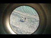 Amateur paar maakt sex op het strand
