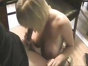 Orale porno en seks met een rijpe blonde